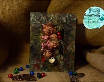 Ooak Goblins book box in polymer clay