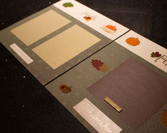 Fall (autumn) Family Memory Scrapbook (Set of 2 pages)