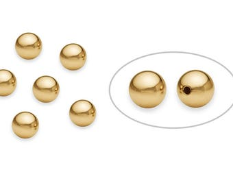 1 Pcs 7 mm 14K Gold Filled Round Bead (2011000007) Seamless