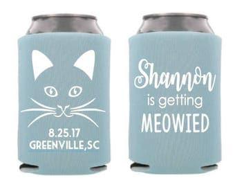 Cat themed Bachelorette/Bridal Shower Can Cooler