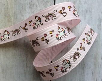 Unicorn Pink Grosgrain Ribbon