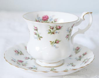 Vintage Royal Albert Bone China 'Winsome' Cup and Saucer, Lady Size, England