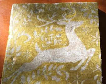 Coaster Set-Deer Coaster Set-Travertine tiles-Housewarming gift- Deer Coaster set-Farmhouse Decor-Wedding gift