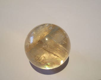 Honey Calcite Sphere 'AA' Grade