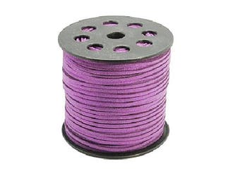 Purple cord 3 mm wide 1.5 mm thick