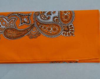 orange Paisley bandana
