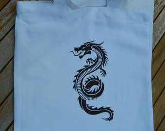 bag slung white dragon