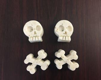 2 pairs of Skulls and Cross Bones Soap