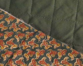 Judie Rothermel Marcus Fabrics Repro 1840s QUILTED Green Paisley 44 x 5.5yds