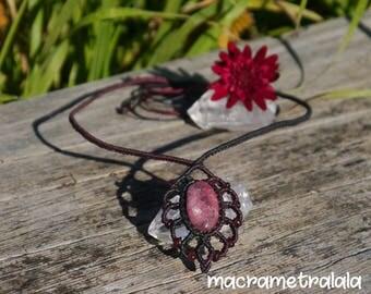 Beach Jewelry for Wife. Rhodochrosite & Garnet Boho Bridal Necklace. Capricorn Necklace. Zodiac Necklace. Boho Garnet Necklace by Tralala.
