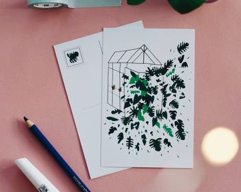 Greenhouse A6 Postcard