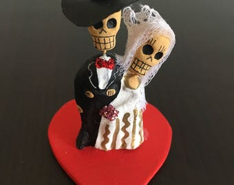 Just Married skeleton ~ Mexican handmade