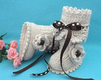 Baby Girl Shoes Gift Crochet Baby Shoes Baby Girl Crochet Baby Booties Newborn Knitted Baby Booties Knit Shoes Infant Girl Crochet Baby Girl