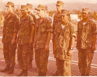 VTG Vietnam War Original Picture Photo 1972 USMC Marines Camouflage ERDL Uniform