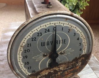 Vintage Wayrite Scale by Hanson Company, Retro Metal Household Scale, Retro Kitchen Decor