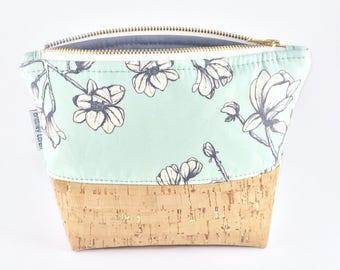 Steel Magnoila Cosmetic Bag/Makeup Bag/Toiletry Bag/Travel Bag