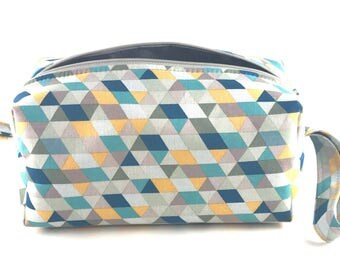 Prism Cosmetic Bag, Makeup Bag, Travel Bag, Box Pouch