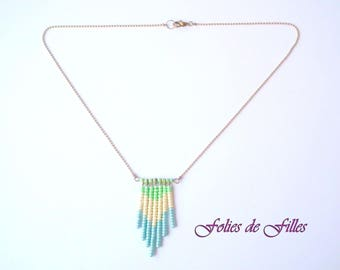 Necklace 'Talisman yours' blue, white, green
