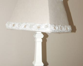 Light square of linen and lace