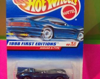 Vintage Hot Wheels Jaguar D Type Blue Sports Car 1998 First Edition No 6 Of