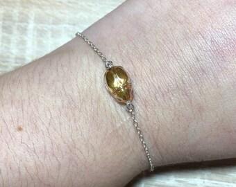 Silver 925 Swarovski scarab bracelet