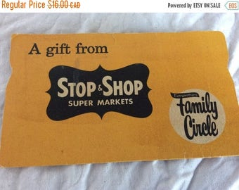 On Sale Free shipping with - Rare Family Circle sewing card. A gift from Stop & Shop Super Markets.