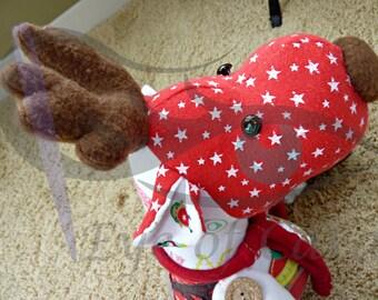 Christmas Keepsake // Reindeer Keepsake // Keepsake Animal // Memory Keepsake // Custom Made // Made From Your Clothing // Reindeer //