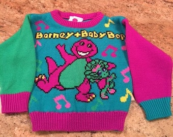 Barney & Baby Bop Vintage Sweater '92 12 to 18 months