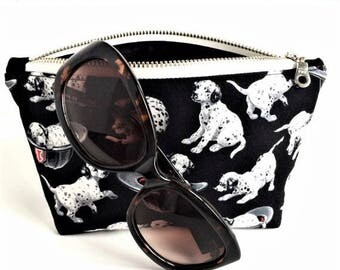 Dog Bag - Zipper Pouch - Gift for Dog Lover - Dalmatian Bag - Puppy Pouch - Small Makeup Bag - Small Cosmetic Bag - Purse Pouch