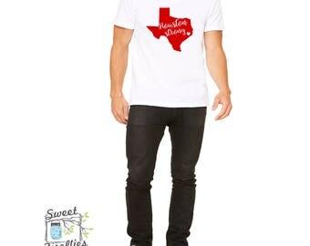 LOVE, Houston Strong,  Unisex VNeck T Shirt, Plus Size Shirt, Men's T Shirt, Women's T Shirt, Plus Size Tee Shirt,  Plus Size Clothes,