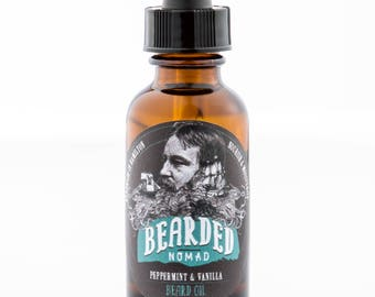 Bearded Nomad's Peppermint and Vanilla Beard and Moustache Oil