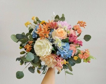 Wedding Bouquet, Bridal Bouquet, Bridesmaid Bouquet, Silk Flower Bouquet, Wedding Flowers, Silk Bouquet, Wedding Package, Flower Bouquet