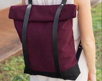 Cool Backpack - Burgundy Red Book Bag - School Bag Bookbag - Backpack for College - School Backpack - Backpack for Girls and Guys - Rucksack