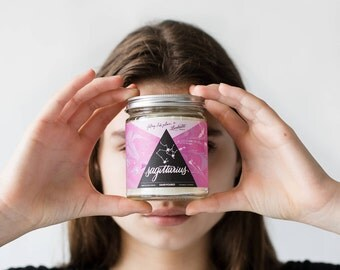 Sagittarius - Pomegranate Cider - Astrology Series - soy wax candle