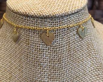 CHOKER With HEART CHARMS