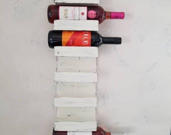 Wine Rack Shabby Chic Wine Rack White Wall Wine Rack Rustic French Country Wine Storage