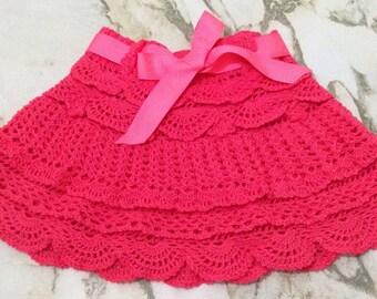 Crochet girl Skirt, Toddler Crochet Skirt, Girl Kid Crochet Skirt,  Vêtements en Crochet, Ropa de Niña a Crochet, Falda Tejida