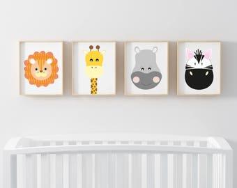 Nursery Safari Set of 4