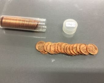 Uncirculated 1942-D Lincoln wheat Cents