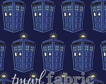 Woven Fabric - BBC Doctor Who Police Public Call Box - Fat Quarter Yard +
