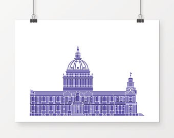 St Paul's Cathedral, London - unique wall art perfect for any room