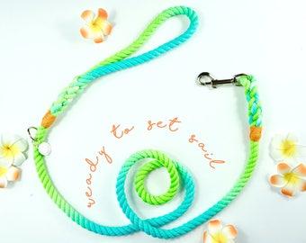 READY to SHIP- 5' medium rope dog leash- dog leash, rope leash, harbor hound leash