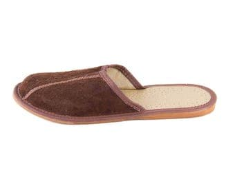Mens natural leather slippers! Everyday Slippers!  natural leather, summer, gift idea for father, boyfriend, husband, son.
