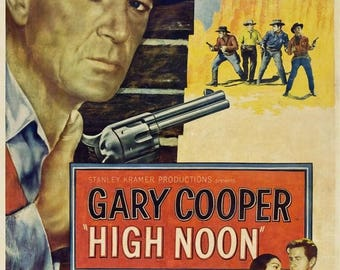 Summer Sale HIGH NOON Movie Poster 1952 Western Gary Cooper