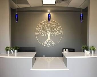 Arbre de vie m tal wall art art mural arbre m tal cercle for Decoration murale arbre de vie