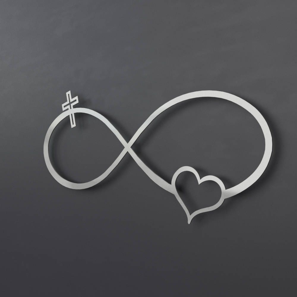 Infinity symbol metal wall art metal wall cross heart zoom amipublicfo Images
