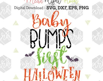 Baby Bump's First Halloween Svg, Halloween svg, Pregnancy svg, Fall svg, INSTANT DOWNLOAD files for cutting machines - svg, png, dxf, eps