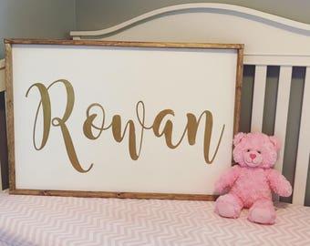 Nursery name sign, custom baby name sign, crib name sign