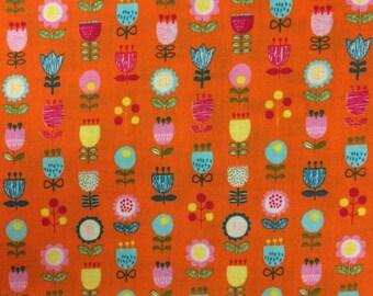 SALE Orange Floral Westex Fabric Japanese Import