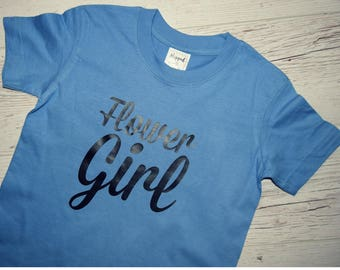 Flower Girl, Flower Girl Shirt, Petal Patrol Shirt | Matching bridesmaid shirts also available | Many colors to choose from | 100% CUSTOM